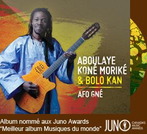 Album nommé au Juno Awards Meilleur album Musiques du monde